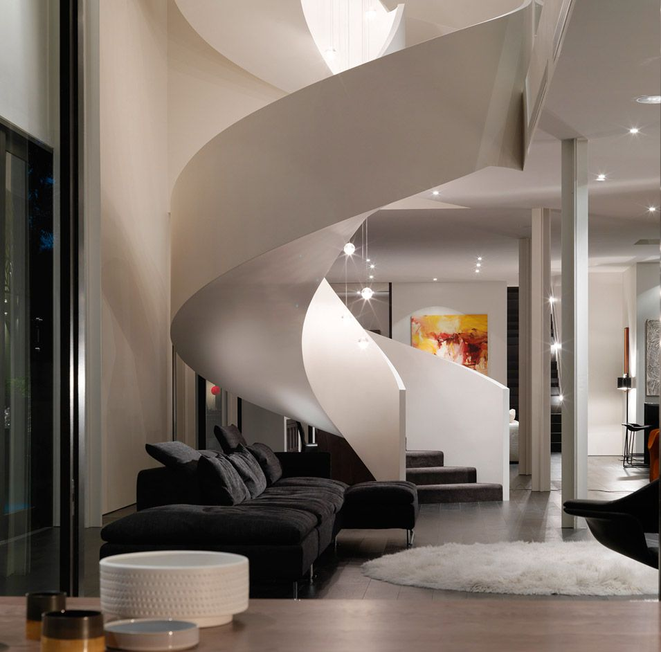 Home Interior Design Melbourne. Modern Aesthetic Verdant Avenue House Design by Robert Mills Architects  Home and Interior the staircase acts like a sculpture