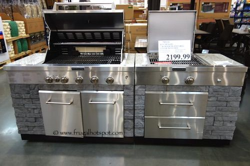 Costco Sale Kitchenaid 7 Burner Island Grill 1 999 99 Outdoor Kitchen Bbq Small Kitchens