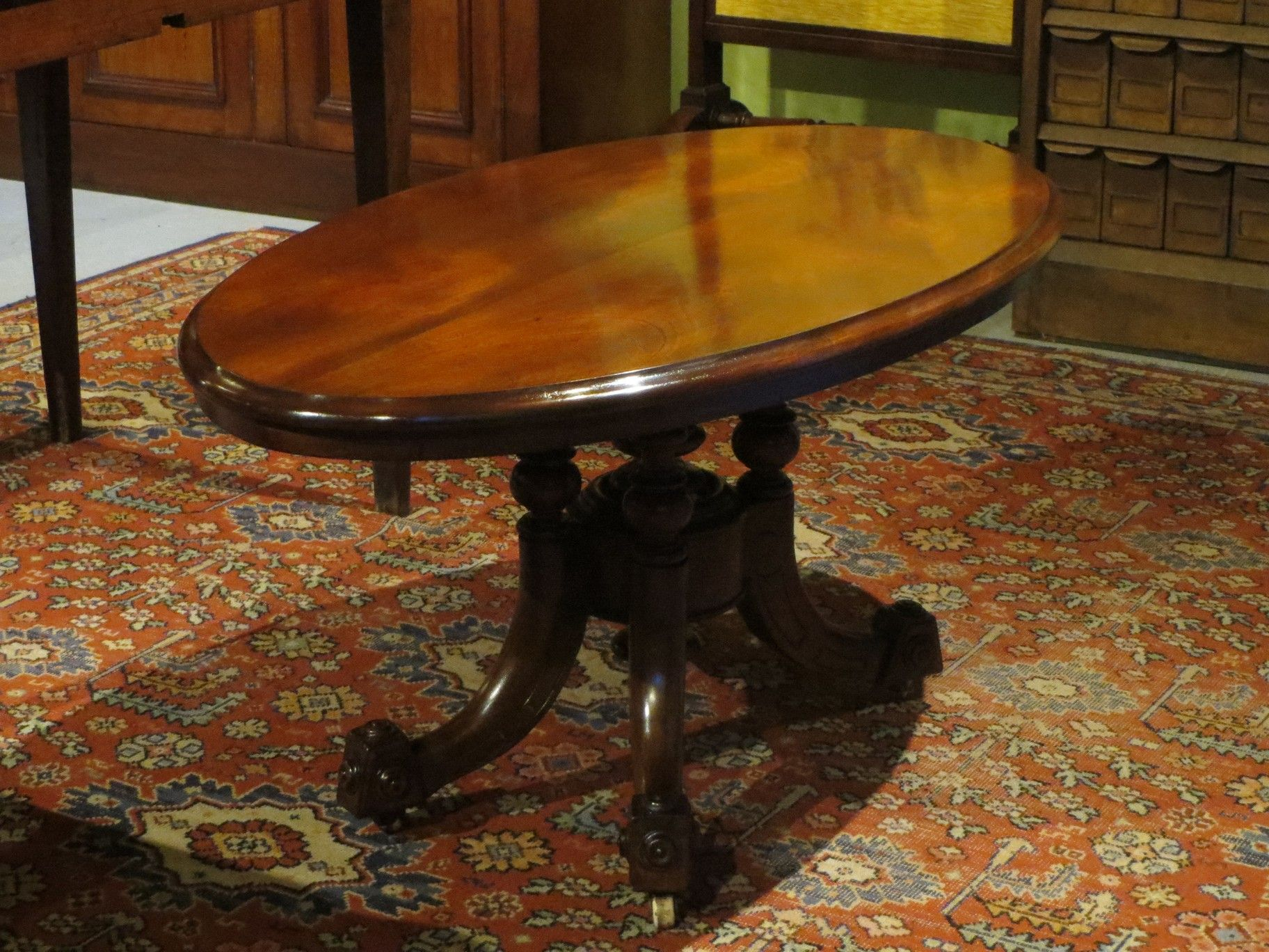 Geelong Melbourne Antique Coffee Tables Victorian Mahogany Oval Table Pegasus Antiques