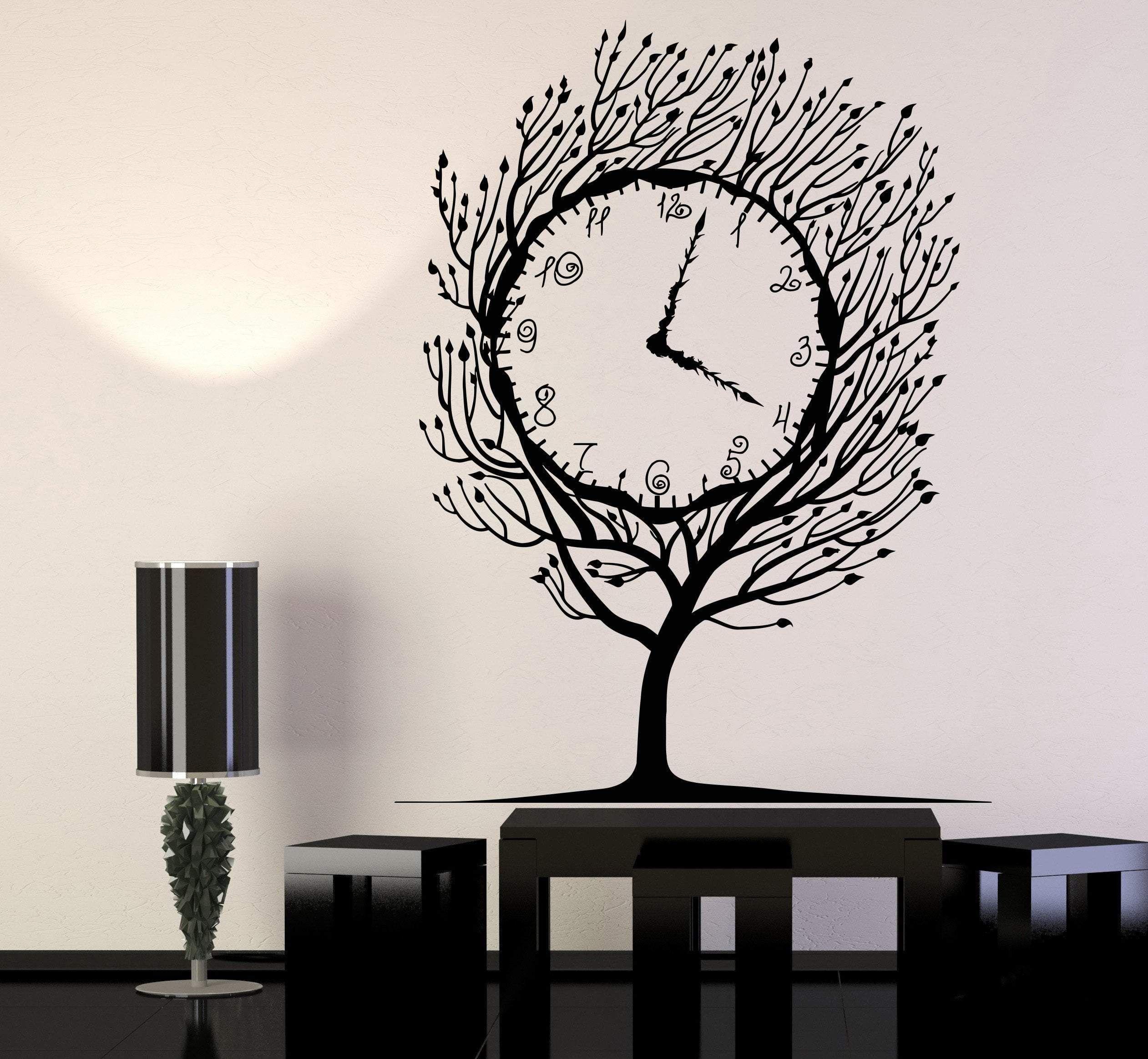Vinyl Wall Decal Art Tree Clock Salvador Dali Home Decor Stickers Unique Gift 1280ig Vinyl Wall Decals Wall Decals Wall