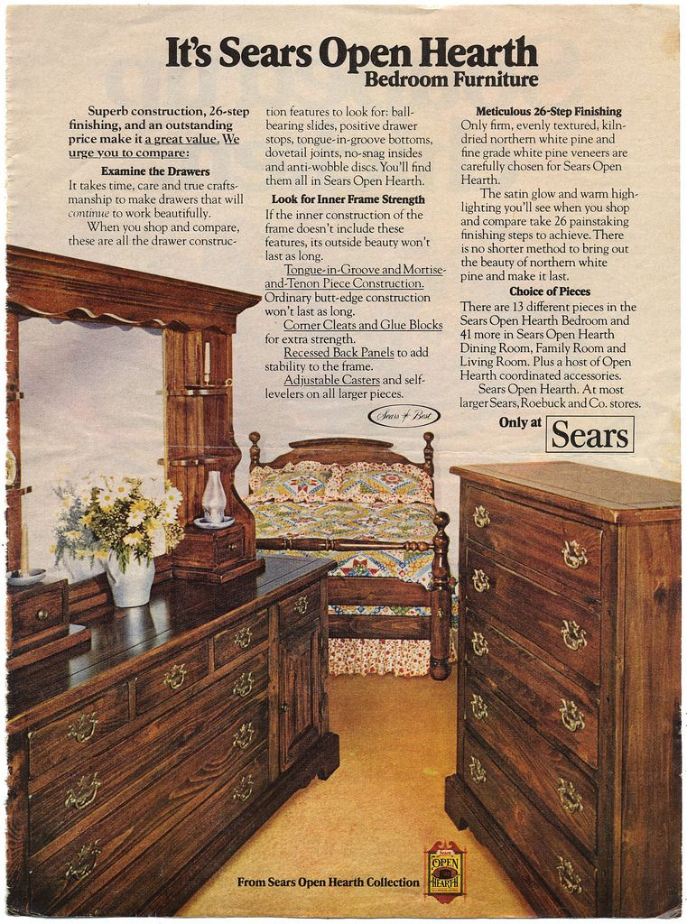 Sears Open Hearth furniture line from the 13s  Vintage mom
