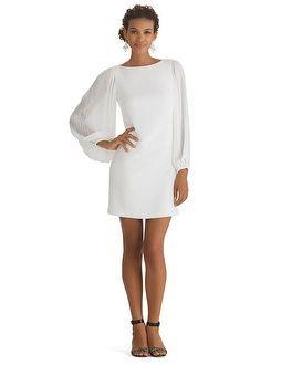20+ Chiffon sleeve white shift dress inspirations