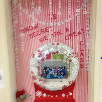 A Friend Of Mine Had A Vision For A Snow Globe Door Decoration I