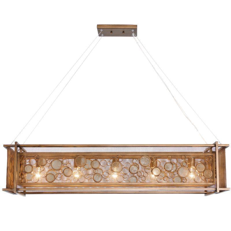"""Varaluz 265N05 Fascination 5 Light Single Light Source 48"""" Wide Single Tier Recy Brass Indoor Lighting Chandeliers"""