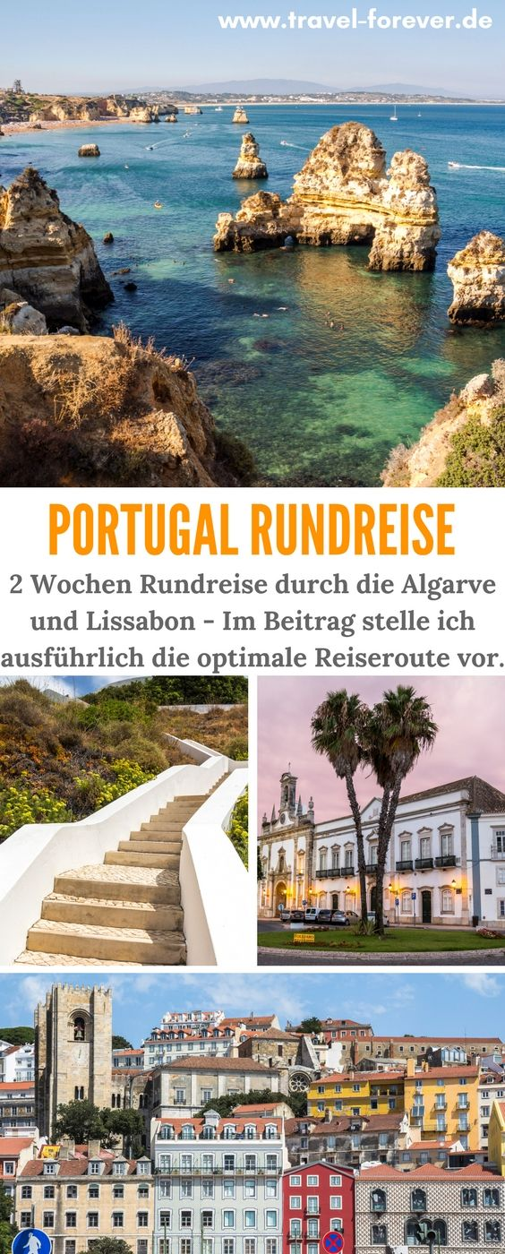 Portugal Rundreise - Route für 2 Wochen Roadtrip: Algarve & Lissabon #portugal
