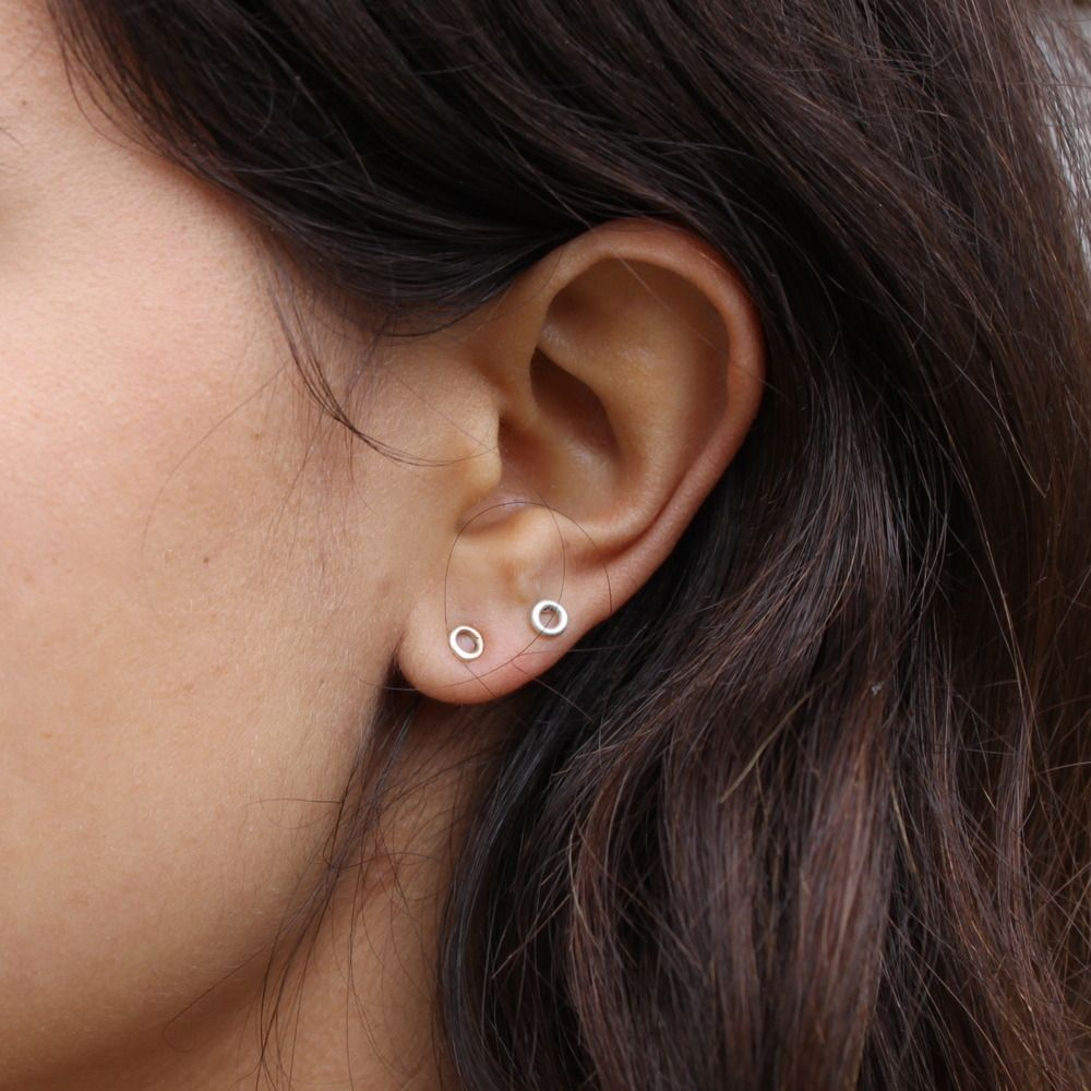 Nose piercing without earring  Tiny Circle Studs  bijoux  Pinterest  Jewerly Jewelery and Armours