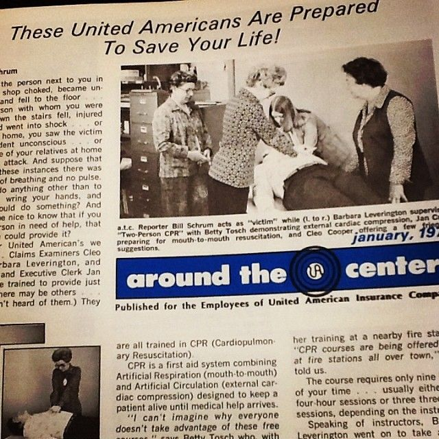 First Aid Training at the United American Home Office in 1979. #ThrowbackThursday #TBTFollow #UA