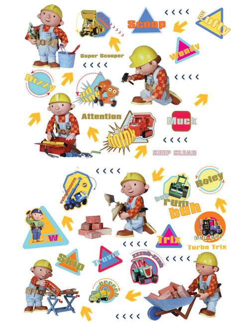 [Bob Bricoleur Stickers Description Dimensions Delivery Returns The Builder  Wallpaper] Bob The Builder Wallpaper Mural From Fads Bob The Builder  Wallpaper ... Part 34