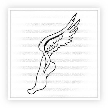 Sports Logo Part Of Track Field Logo Graphic Symbol Foot With Wings