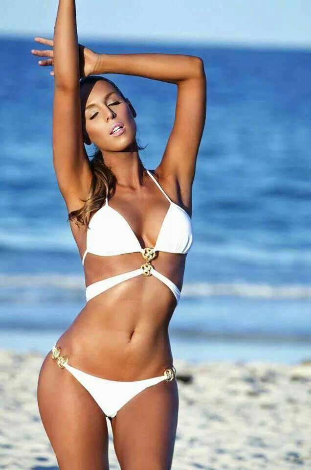 Beautiful white bikini