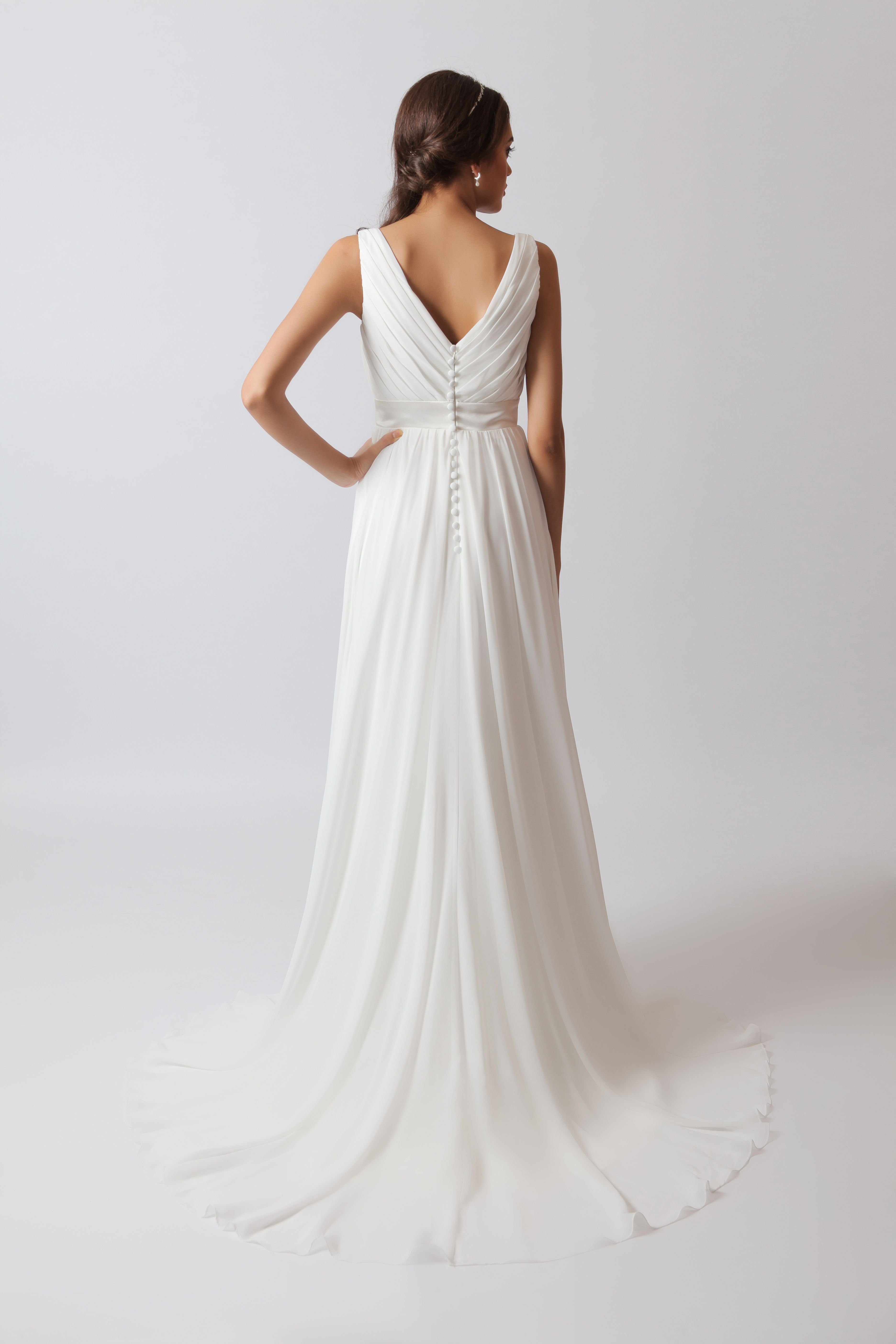 Melody A Simple Yet Elegant Gown The V Neck And Back Are