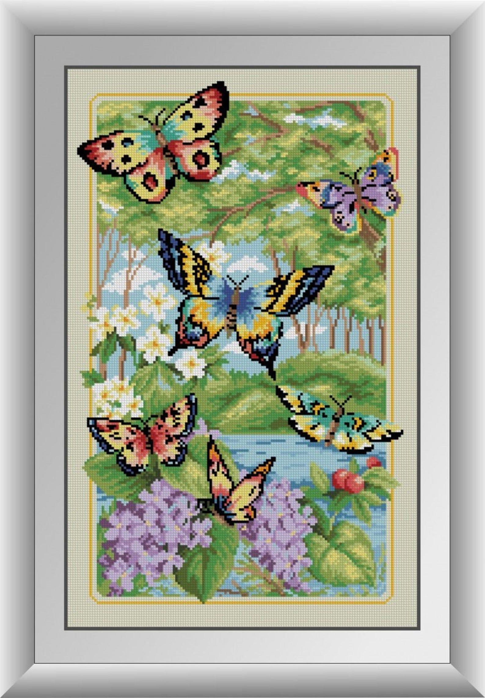 Butterflies diy diamond painting kit full square drill