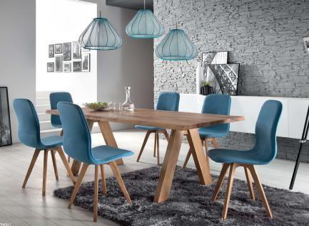 Schalenstuhl Stuhl Esszimmer Modern Blau Eiche Massiv Hellblau Samtig Vorschau 3 Esszimmer Modern Innenarchitektur Esszimmer