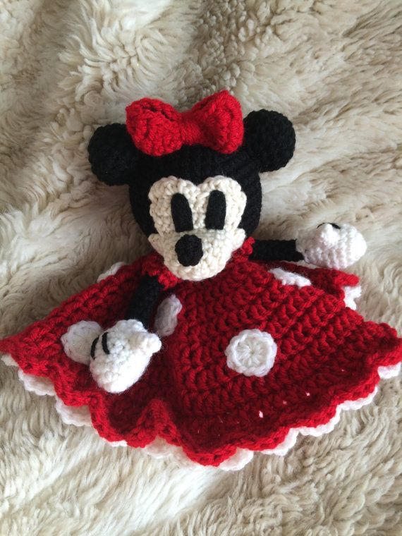 Crochet Minnie Mouse Lovey Security by BriarRoseCraftyThing | baby ...