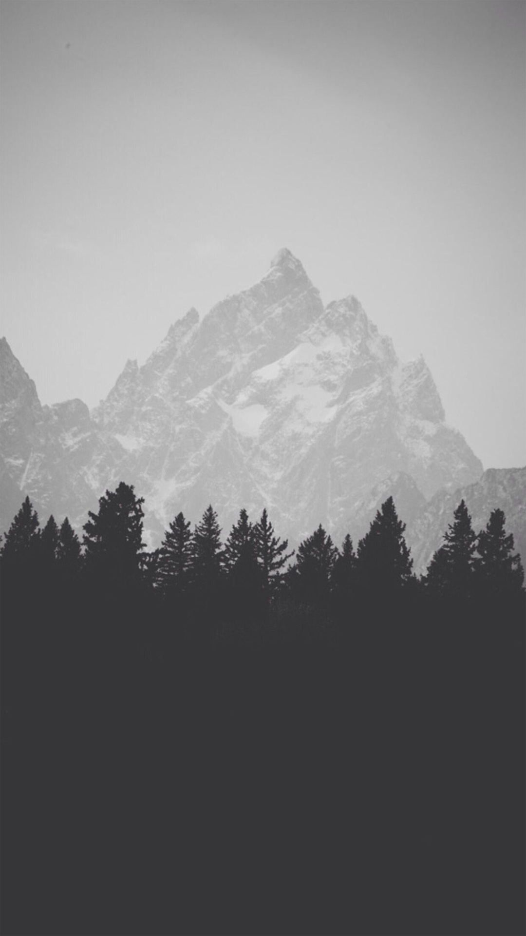 black and white mountain wallpaper phone