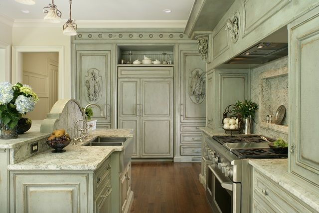 Habersham custom kitchen cabinetry with integrated ...