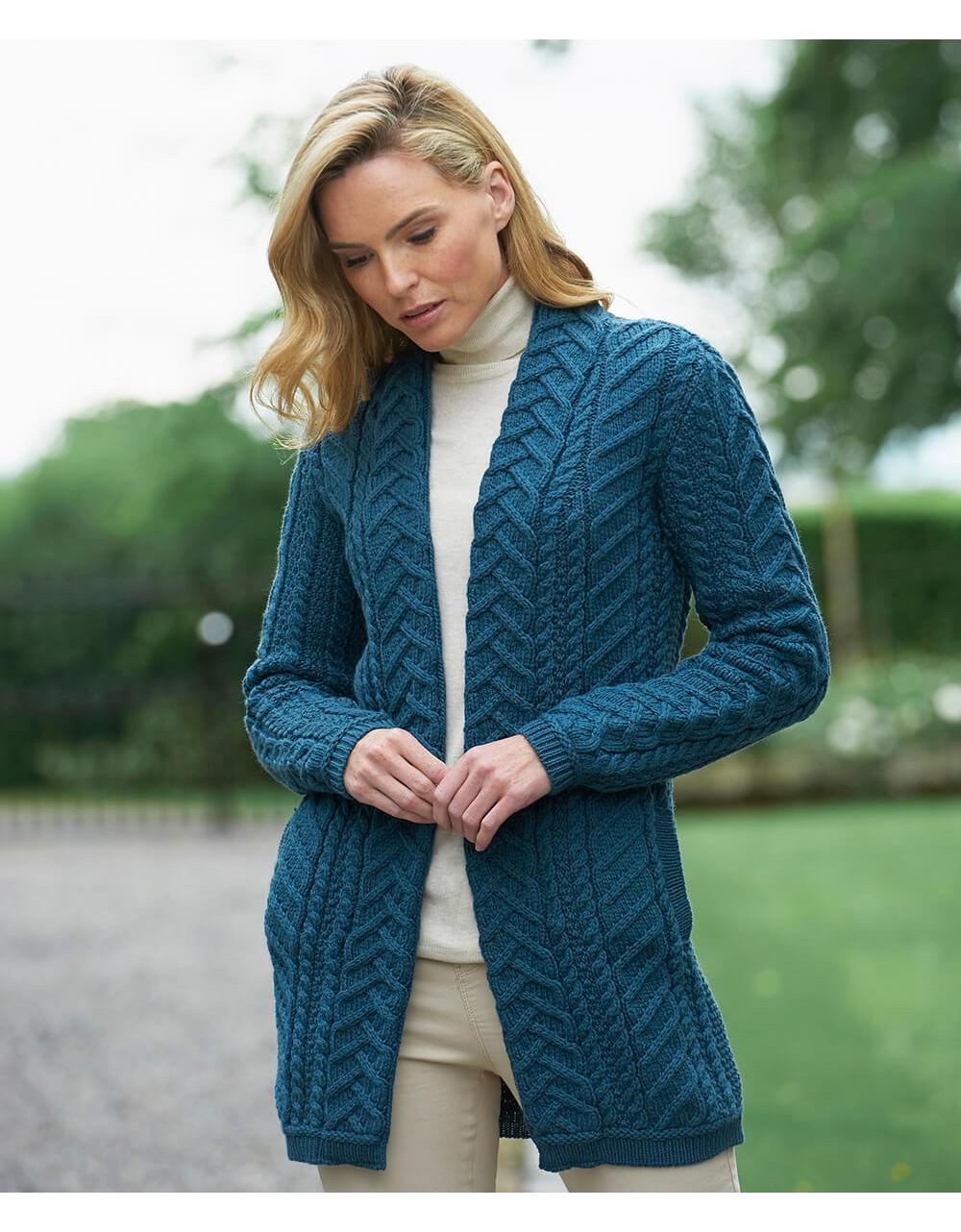 Aran Pattern Edge to Edge Coat|Women|Aran Sweaters|Irish ...