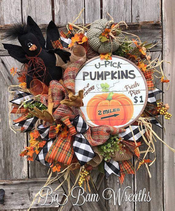 Fall Wreath Fall Decor Autumn Wreath Halloween Wreath