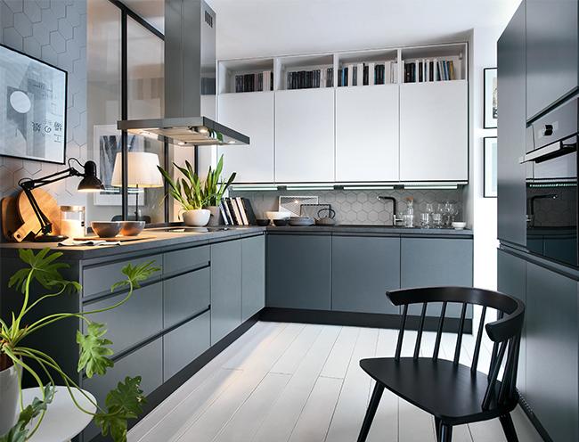 Sensokitchens Traffic 98thelyseestreet Kitchen Home Kuchnia Cooking Design Interior Interiordesign Interiorde Grey Kitchens Kitchen Cabinets Kitchen