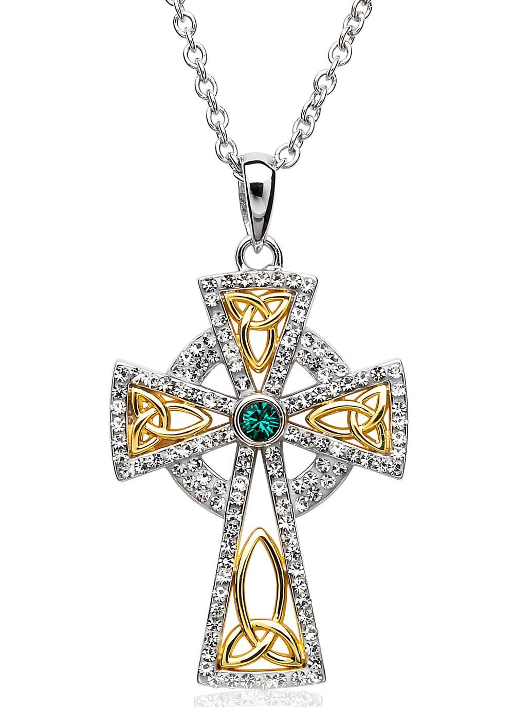 celtic shop skullsnation chain pendant with cross king