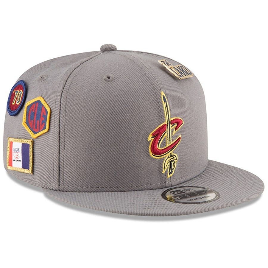aa1f37e5a9f Men s Cleveland Cavaliers New Era Gray 2018 NBA Draft 9FIFTY Adjustable Hat