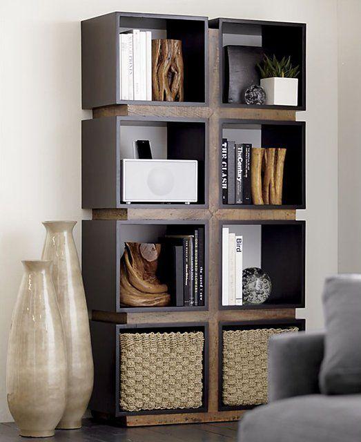 Diego Room Divider/shelving unit 159900 from crate and barrel - muebles en madera modernos