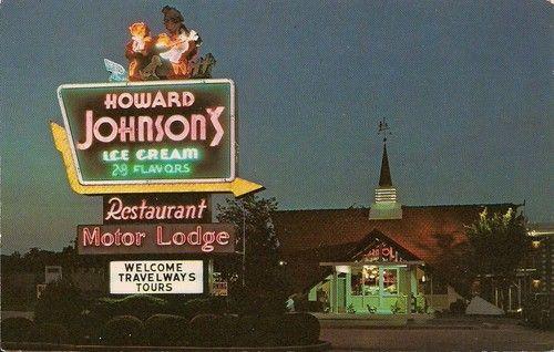 Early chrome postcard howard johnsons motor lodge restaurant early chrome postcard howard johnsons motor lodge restaurant dayton ohio malvernweather Images