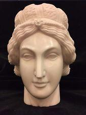 Italian White Marble Head Sculpture Renaissance Woman Classical Design Bust