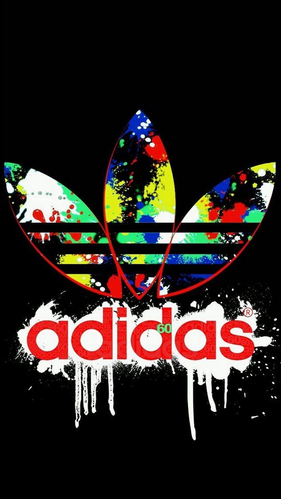 Logo Adidas iPhone X Wallpaper en 2020 Adidas fondos de