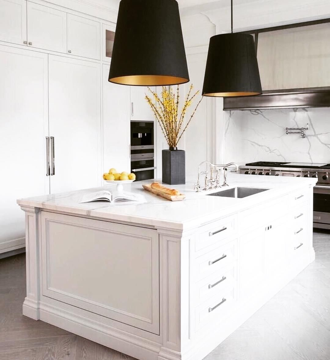 The Grey Interiors On Instagram A Great Example Of A Small Yet Functional And Timeless Kitchen De Kitchen Remodel Small White Kitchen Design Kitchen Interior