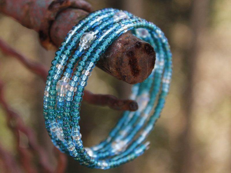 Náramek malý tyrkysově modrý