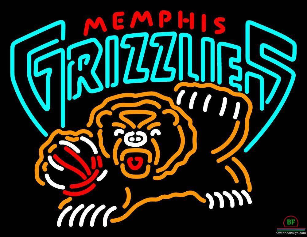 Memphis Grizzlies Neon Sign NBA Teams Neon Light Neon