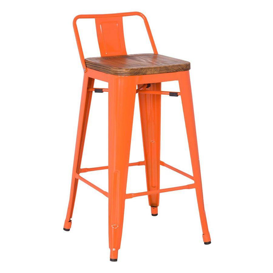 Fine Metro Low Back Bar Stool Orange Wood Set Of 4 In 2019 Bralicious Painted Fabric Chair Ideas Braliciousco