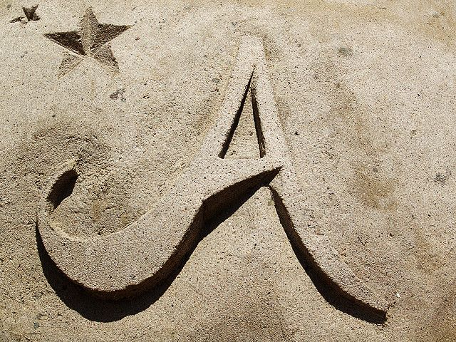 The Letter A Out Of Sand Lettering Letter Photography Lettering Alphabet