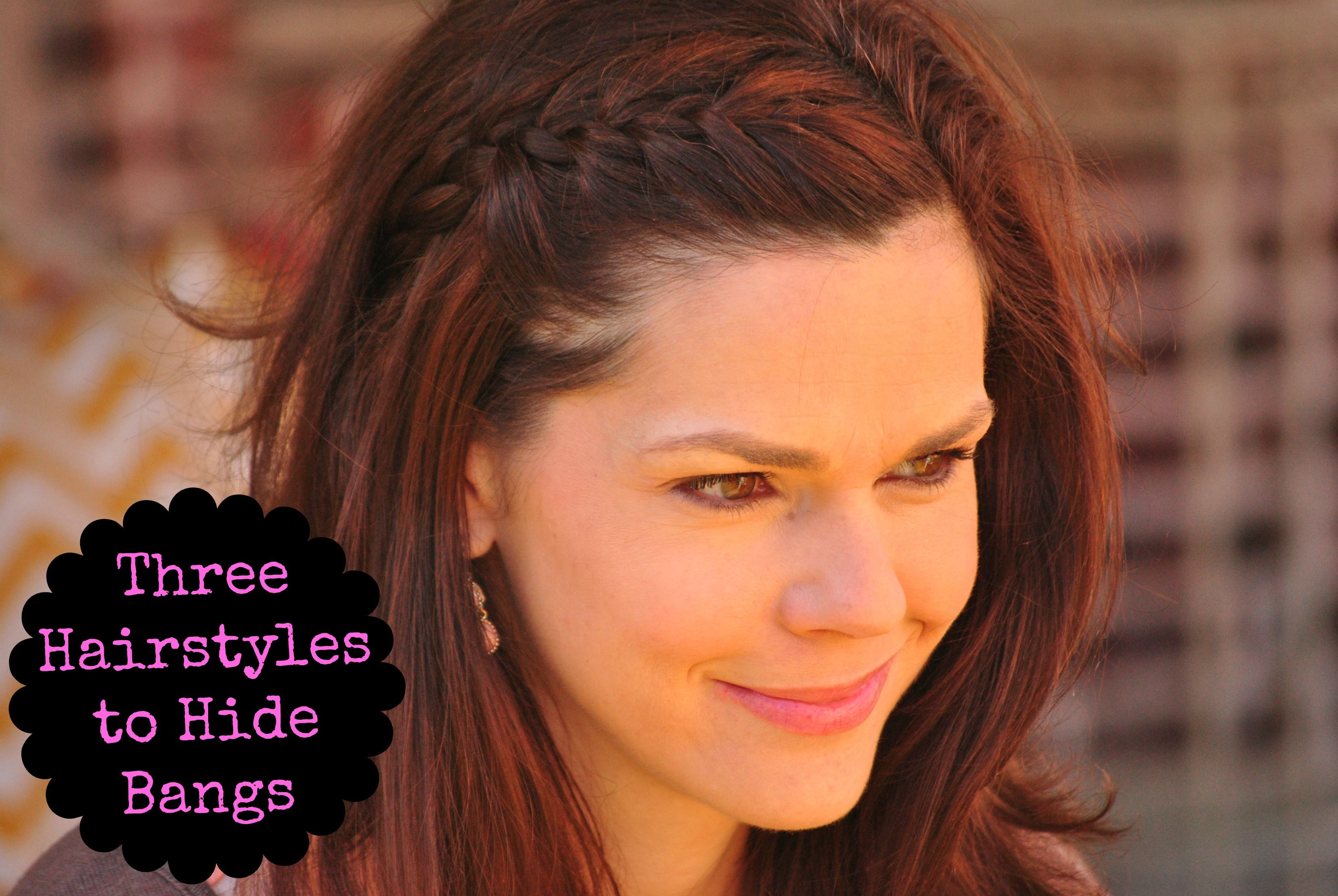 Quick Hairstyles To Hide Bangs Get Your Pretty On Hide Bangs Hair Easy Hairstyles For Long Hair