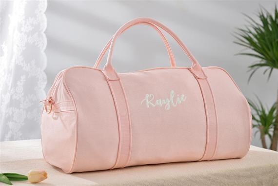 Personalized Duffle Bag Pink Weekender Bag Womens Weekend Bag Sports Duffle Bag Travel Bags