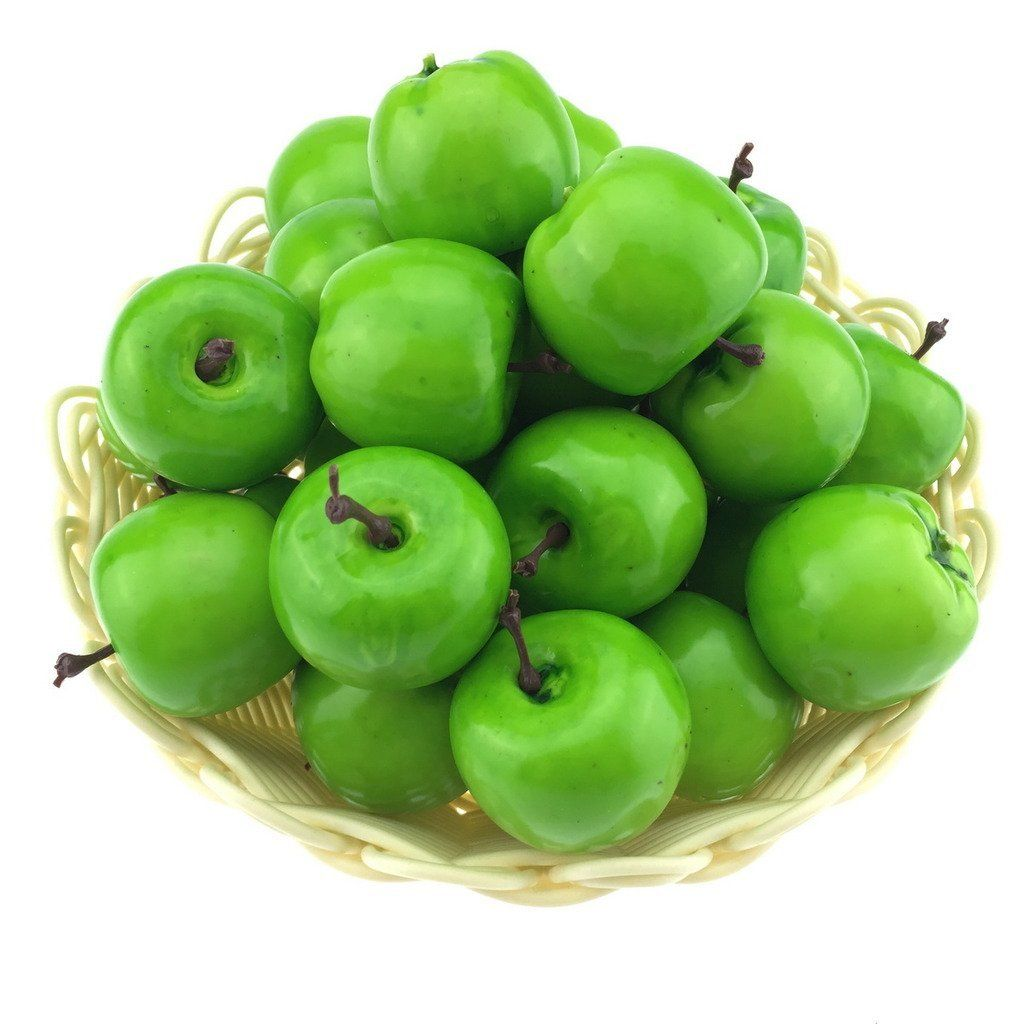 Green Apple Decorations For Kitchen Moving Box 30pcs Artificial Lifelike Simulation Small Green Apples