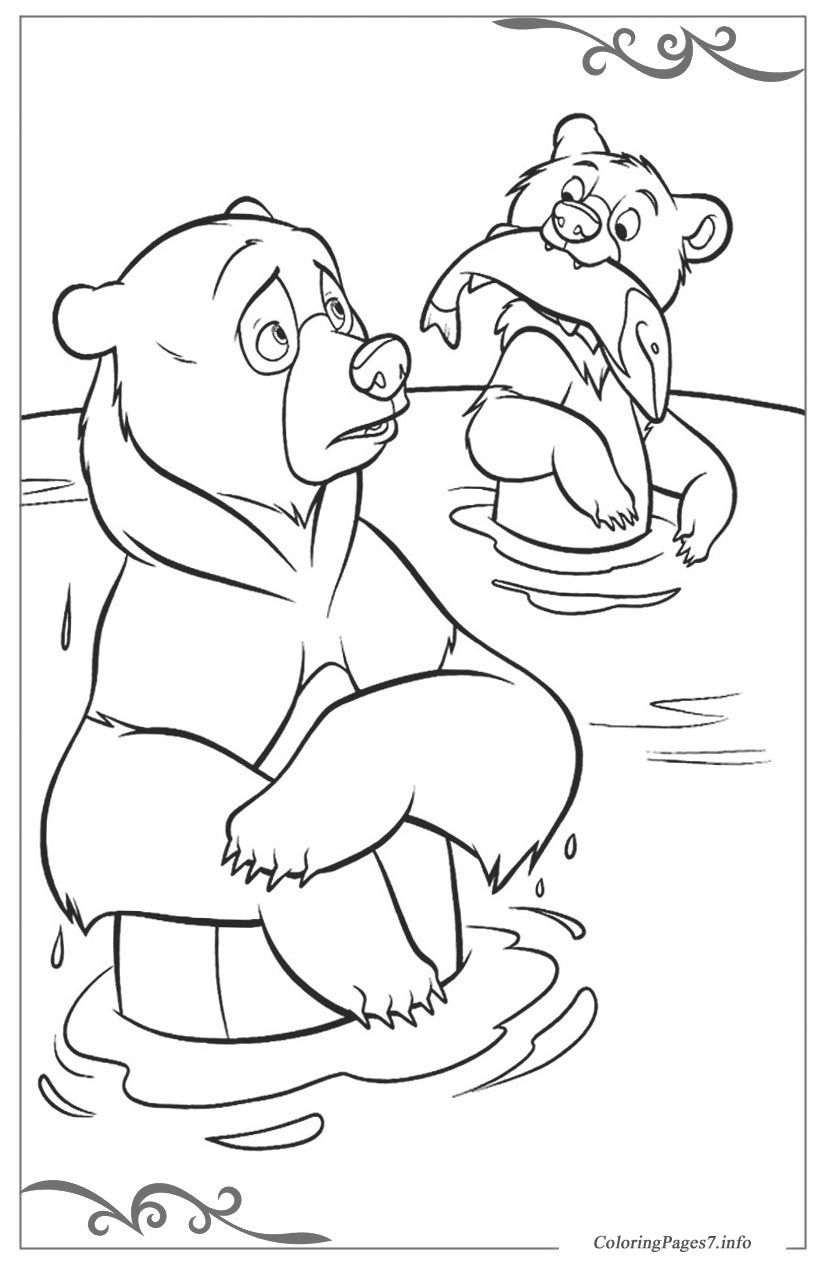 Brother Bear Free coloring pages for girls | Dibujos en blanco y ...