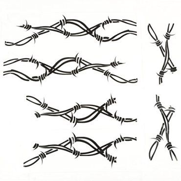Rugged Ridge 1230032 Side Decal Pair Barbed Wire 0 1