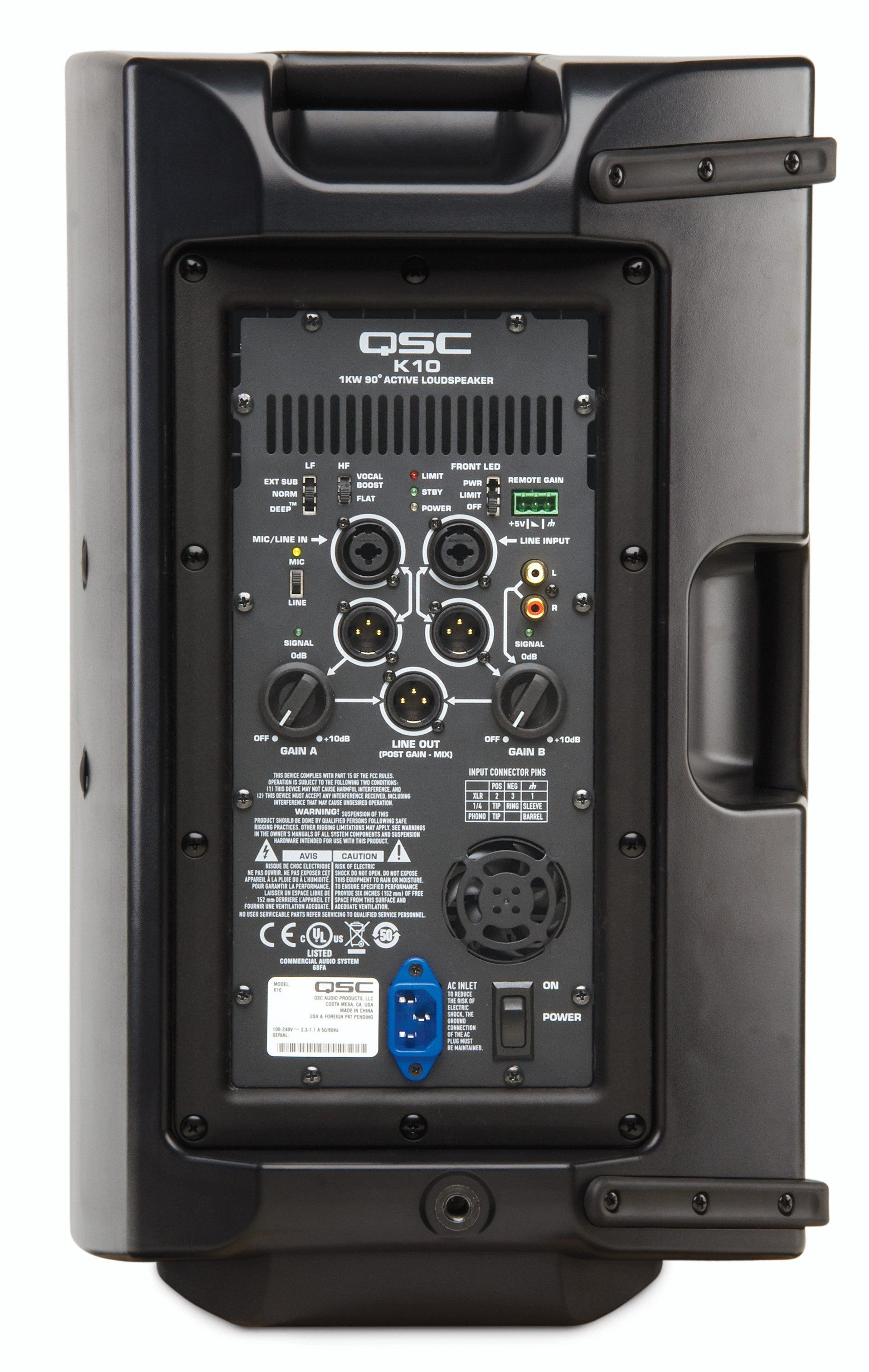 Qsc K10 Active 2 Way 10 Horn 1 000 Watts Rms Fold Back Monitors For 24 Ch Pa Subwoofer Powered Pa Speakers Powered Speakers