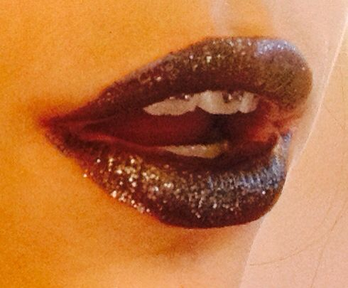 Black shimmery lips