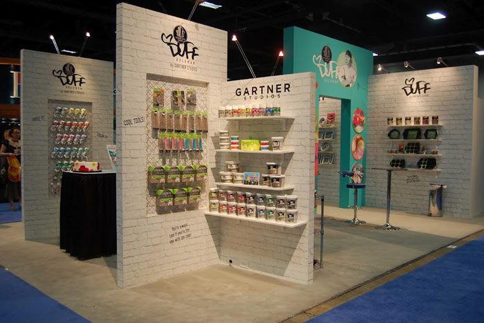 Exhibition Stand Design Presentation : With an exhibit designed using the signature graffiti