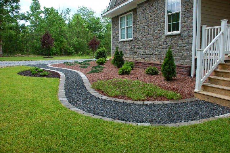 Crushed Stone Walkway Ideas In 2019 Front Yard