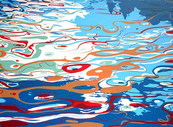 Blue Lake Screen print. on Behance