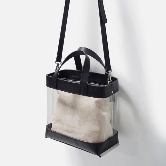 Zara NWT Vinyl Clear Tote Bag ❤ Zara Bags  1c7cea1ae245a
