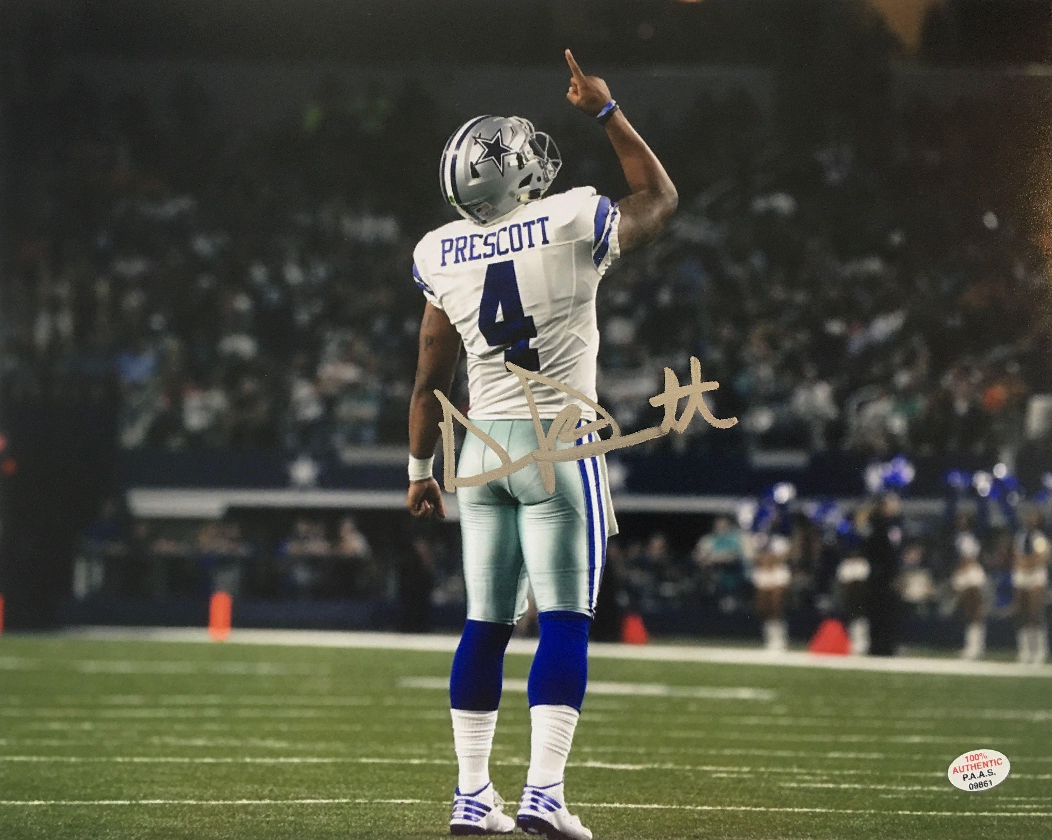 Dak Prescott Dallas Cowboys Rookie Signed 8x10 Photo Dallas Cowboys Dak Prescott Dallas Cowboys Dallas