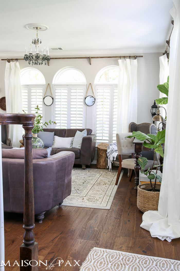 Classy yet Affordable White Curtains Diy curtain rods