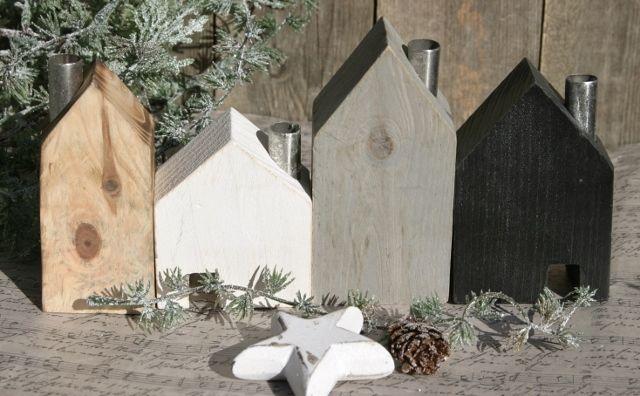 home kerzenst nder holz h user haus holzhaus kerzenhaus kerzenhalter 4er set ideen f r. Black Bedroom Furniture Sets. Home Design Ideas
