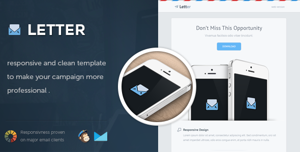 Letter Responsive Email Template Responsive Email Template And - Buy email templates