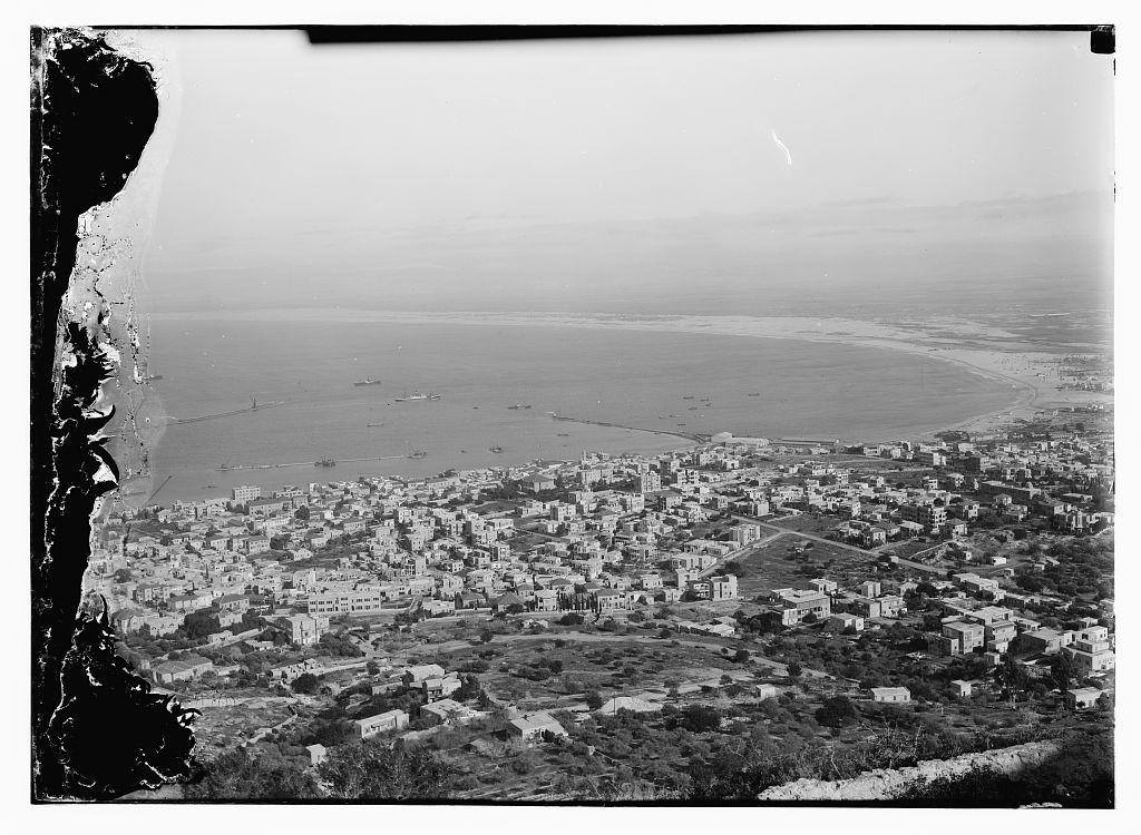 1927 מבט מהכרמל Aerial View Haifa Aerial